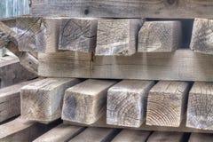Pranchas molhadas de madeira coloridas imagens de stock royalty free