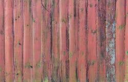 Pranchas velhas da cerca verdes e textura marrom Imagem de Stock Royalty Free