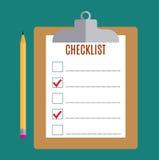 Prancheta com formulário vazio da lista de verificação, ilustração do vetor