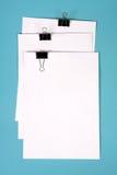 Prancheta com papel foto de stock