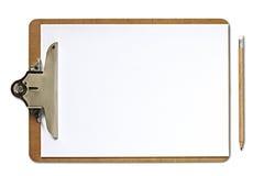Prancheta e lápis Imagem de Stock