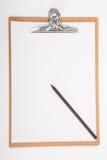 Prancheta e Livro A4 Branco Fotos de Stock