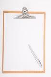 Prancheta e Livro A4 Branco Imagens de Stock Royalty Free