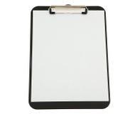 Prancheta preta com Livro Branco Fotografia de Stock