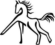 Prancing лошадь бесплатная иллюстрация