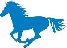 Prancing blue horse Stock Image