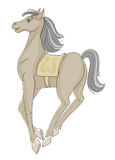 Prancing horse. Is happy, sketch Stock Photography