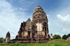 Prang en Phra Prang Sam Yot, Lop Buri, Imagen de archivo libre de regalías