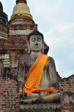 Prang is the large Buddha statues Works. Stock Photography