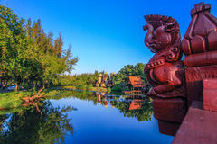 Prang Sam Yod, Lop Buri in altem Siam, Samutparkan, Thailand stockbilder