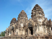 Prang Sam Yot Lopburi (THAILAND). Prang Sam Yot Lopburi The ancient and historic sites and archaeological importance of the province Stock Photos