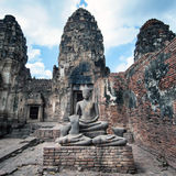 Prang sam yot temple in Lopburi Royalty Free Stock Images