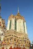 Prang of temple bangkok Stock Photo