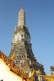 Prang of temple bangkok Stock Image