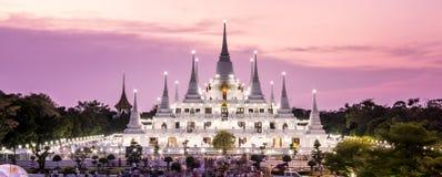 Prang Temple Wat asokaram. Of Samutprakarn Province Thailand Royalty Free Stock Photography