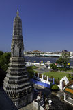 Prang at Thailand Temple Royalty Free Stock Images