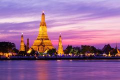 Prang of Wat Arun Stock Photo
