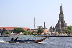 Prang of Wat Arun Stock Images