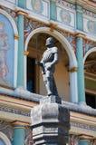 Prangerstandbeeld, Oud Marktvierkant poznan Stock Afbeeldingen