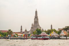 The Prangs of Wat Arun temple. Bangkok, Thailand royalty free stock image