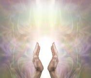 Pranic Healer sending distant healing royalty free stock images