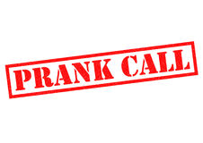 PRANK CALL. Red Rubber Stamp over a white background Royalty Free Stock Image
