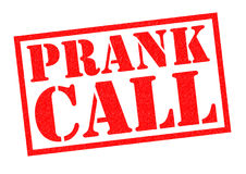 PRANK CALL. Red Rubber Stamp over a white background Royalty Free Stock Photos