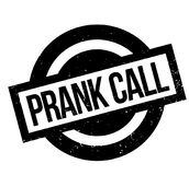 Prank Call rubber stamp. Grunge design with dust scratches. Effects can be easily removed for a clean, crisp look. Color is easily changed Royalty Free Stock Images