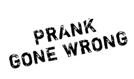 Prank Gone Wrong rubber stamp. Grunge design with dust scratches. Effects can be easily removed for a clean, crisp look. Color is easily changed Royalty Free Stock Images