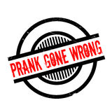 Prank Gone Wrong rubber stamp. Grunge design with dust scratches. Effects can be easily removed for a clean, crisp look. Color is easily changed Royalty Free Stock Photo
