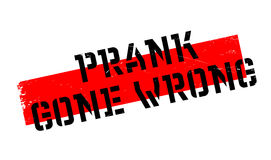 Prank Gone Wrong rubber stamp. Grunge design with dust scratches. Effects can be easily removed for a clean, crisp look. Color is easily changed Royalty Free Stock Photos