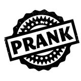 Prank rubber stamp. Grunge design with dust scratches. Effects can be easily removed for a clean, crisp look. Color is easily changed Royalty Free Stock Photos