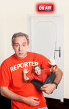 Reporter Prank Stock Images