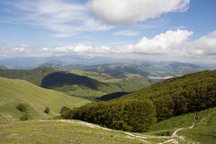 Pranoramic view of umbria mountains Stock Image