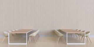 Pranzando struttura minima e di legno della barra - esposizione e moderno di lusso Fotografia Stock Libera da Diritti