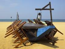 Pranzando sulla spiaggia Fotografia Stock Libera da Diritti