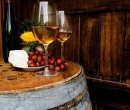 Pranzare del barilotto di vino Immagine Stock Libera da Diritti
