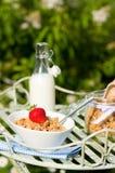 Pranzare della prima colazione Immagine Stock