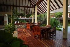 Pranzare della veranda Fotografia Stock