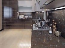 Pranzare stile moderno della cucina Illustrazione di Stock