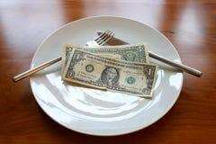 pranzo 2dollar fotografie stock