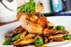 Pranzo asiatico del pollo Fotografia Stock Libera da Diritti