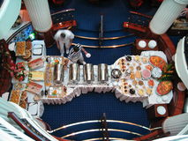 Pranzo a bordo Fotografie Stock