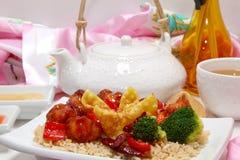 Pranzo cinese Fotografie Stock Libere da Diritti