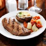 Pranzo cotto della bistecca Immagine Stock