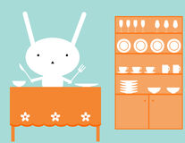 Pranzo dei coniglietti royalty illustrazione gratis