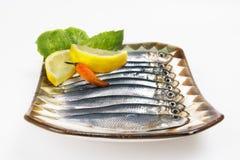 Pranzo dei pesci freschi Fotografia Stock Libera da Diritti