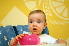 Pranzo del bambino. Immagine Stock