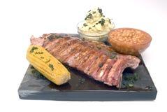 Pranzo del barbecue Fotografia Stock