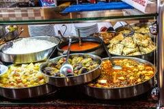 Pranzo del buffet in ristorante turco Immagine Stock